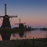Niederlande, später nachmittag, Dämmerung